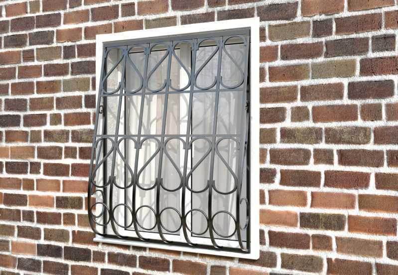 Фото 2 - Дутая решетка на окна ДТ0023.