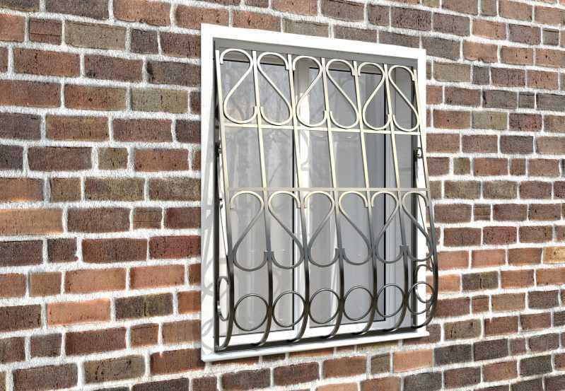 Фото 3 - Дутая решетка на окна ДТ0023.
