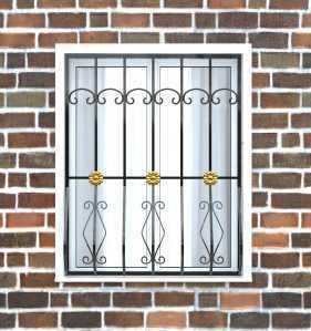 Фото 22 - Дутая решетка на окна ДТ0017.