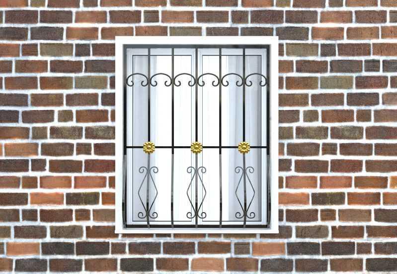 Фото 1 - Дутая решетка на окна ДТ0017.