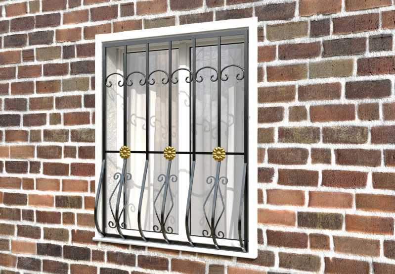 Фото 3 - Дутая решетка на окна ДТ0017.