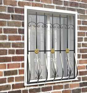 Фото 23 - Дутая решетка на окна ДТ0017.
