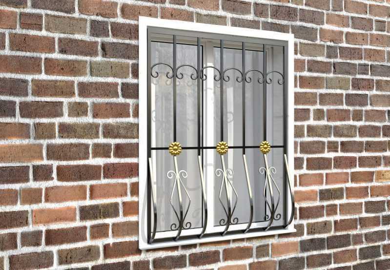 Фото 2 - Дутая решетка на окна ДТ0017.