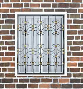Фото 22 - Дутая решетка на окна ДТ0039.
