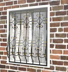 Фото 23 - Дутая решетка на окна ДТ0039.