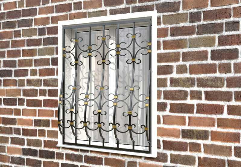 Фото 2 - Дутая решетка на окна ДТ0039.