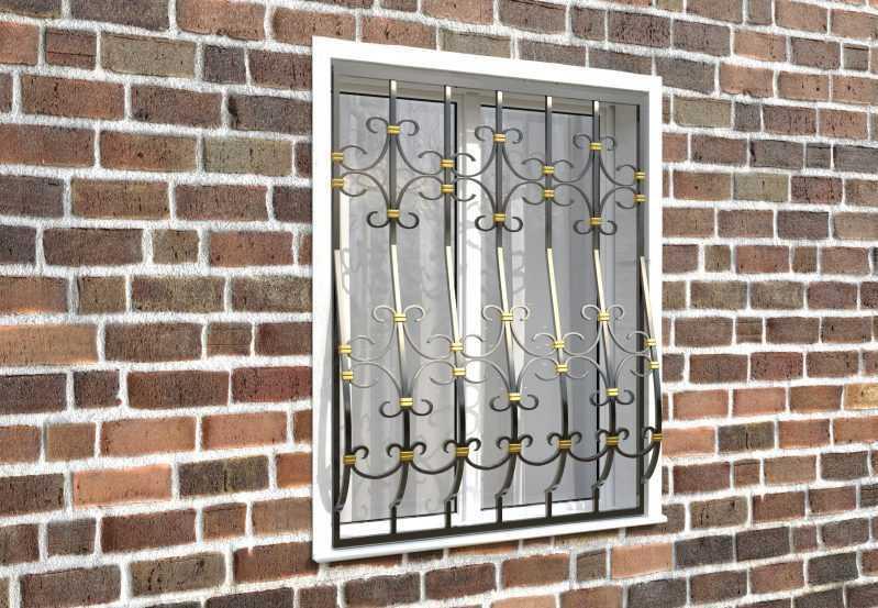 Фото 3 - Дутая решетка на окна ДТ0039.