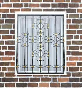 Фото 26 - Дутая решетка на окна ДТ0038.