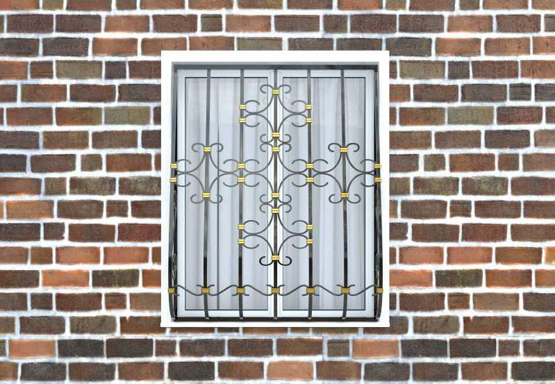 Фото 1 - Дутая решетка на окна ДТ0038.