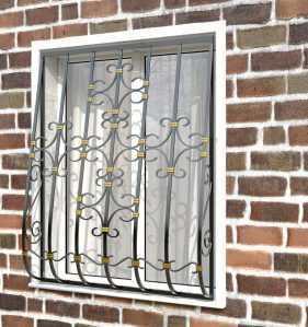 Фото 27 - Дутая решетка на окна ДТ0038.