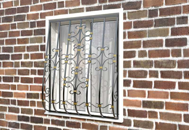 Фото 2 - Дутая решетка на окна ДТ0038.