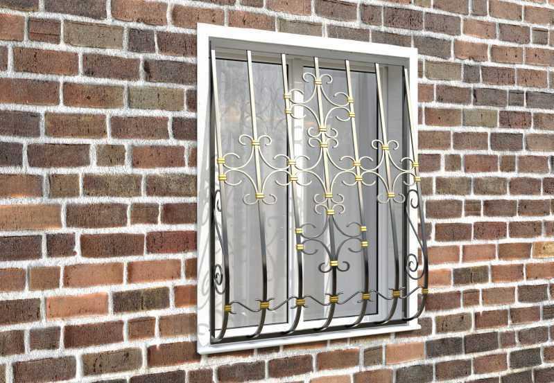 Фото 3 - Дутая решетка на окна ДТ0038.