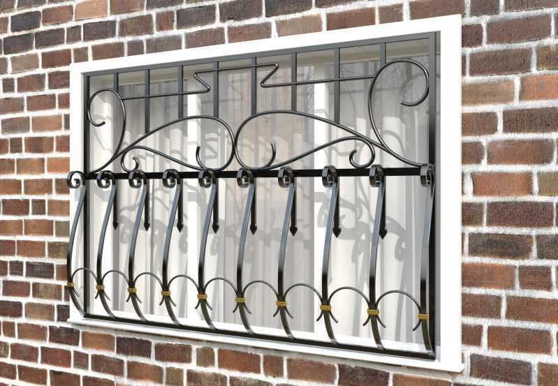 Фото 2 - Дутая решетка на окна ДТ0035.