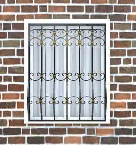Фото 6 - Дутая решетка на окна ДТ0036.