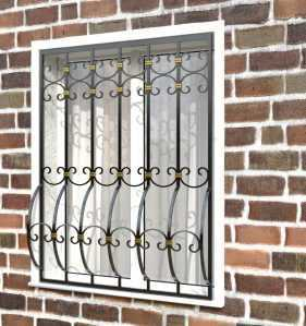 Фото 7 - Дутая решетка на окна ДТ0036.