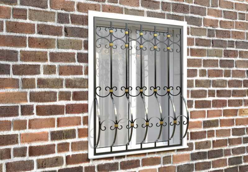 Фото 3 - Дутая решетка на окна ДТ0036.