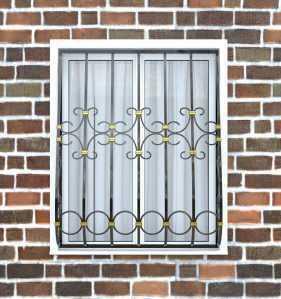 Фото 8 - Дутая решетка на окна ДТ0021.