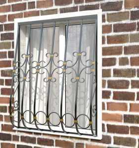 Фото 25 - Дутая решетка на окна ДТ0021.