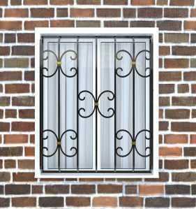 Фото 4 - Дутая решетка на окна ДТ0034.