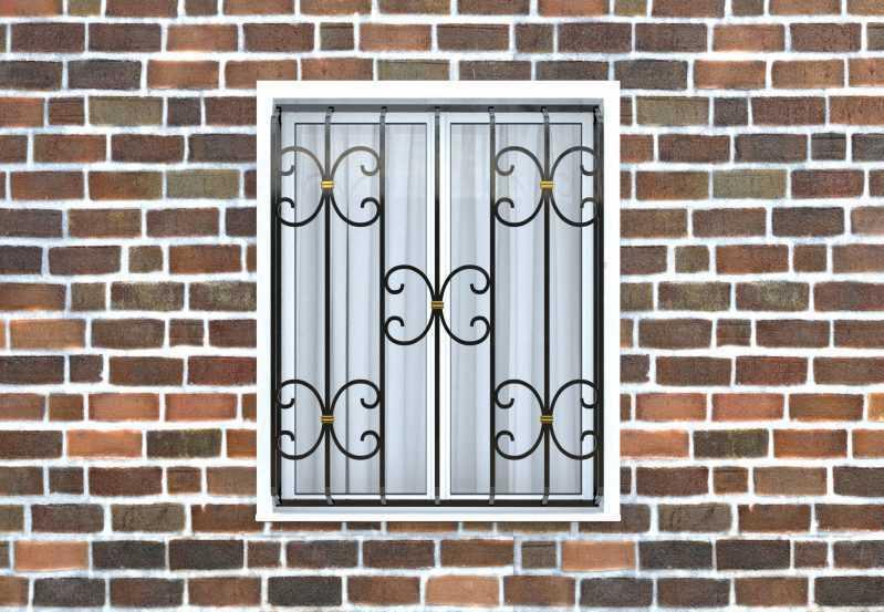 Фото 1 - Дутая решетка на окна ДТ0034.