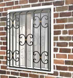 Фото 5 - Дутая решетка на окна ДТ0034.