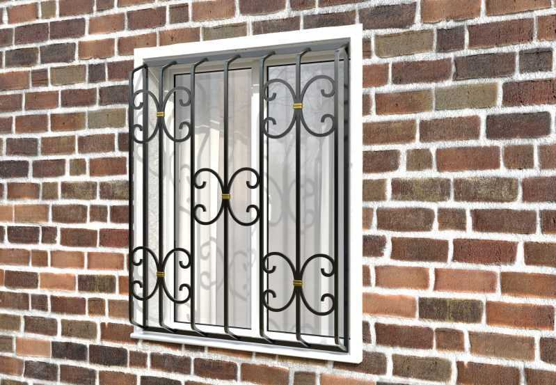 Фото 2 - Дутая решетка на окна ДТ0034.