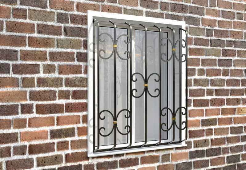 Фото 3 - Дутая решетка на окна ДТ0034.