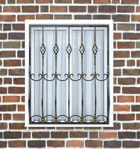 Фото 16 - Дутая решетка на окна ДТ0025.