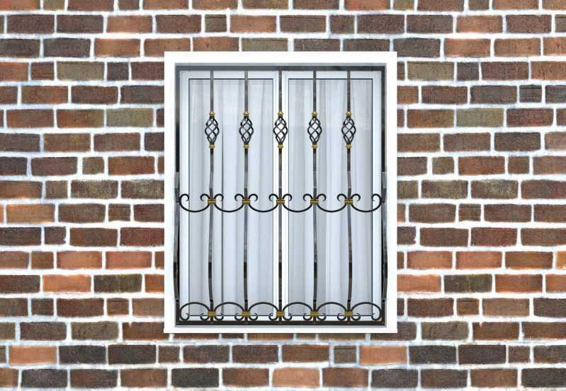 Фото 1 - Дутая решетка на окна ДТ0025.