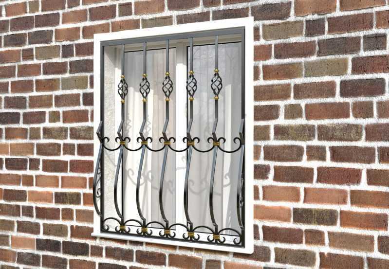 Фото 2 - Дутая решетка на окна ДТ0025.