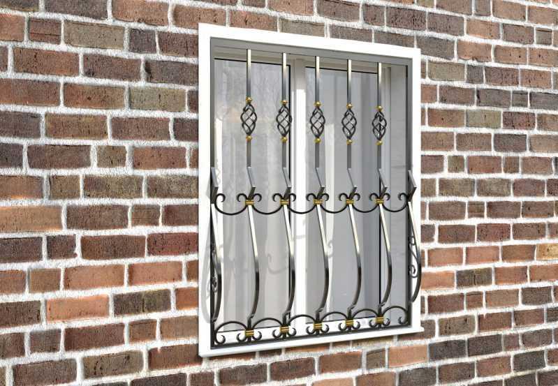 Фото 3 - Дутая решетка на окна ДТ0025.