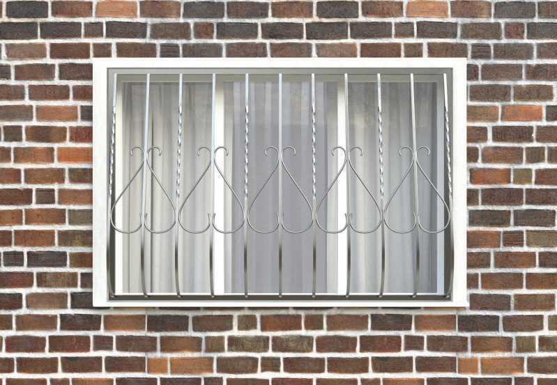 Фото 1 - Дутая решетка на окна ДТ0005.