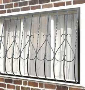 Фото 21 - Дутая решетка на окна ДТ0005.