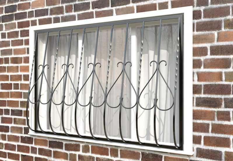 Фото 2 - Дутая решетка на окна ДТ0005.