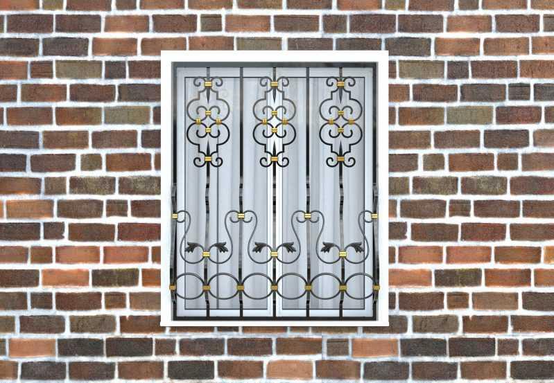 Фото 1 - Дутая решетка на окна ДТ0040.