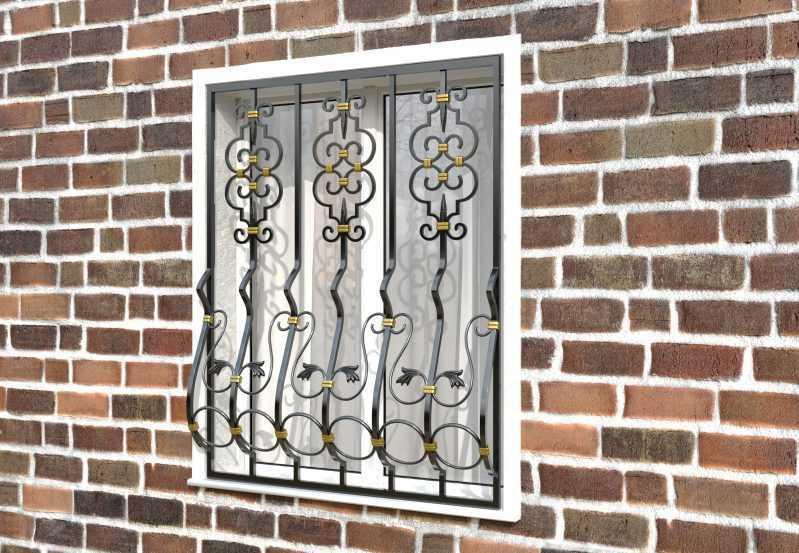Фото 2 - Дутая решетка на окна ДТ0040.