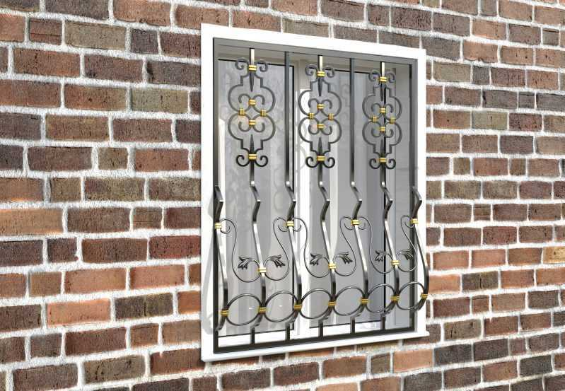 Фото 3 - Дутая решетка на окна ДТ0040.