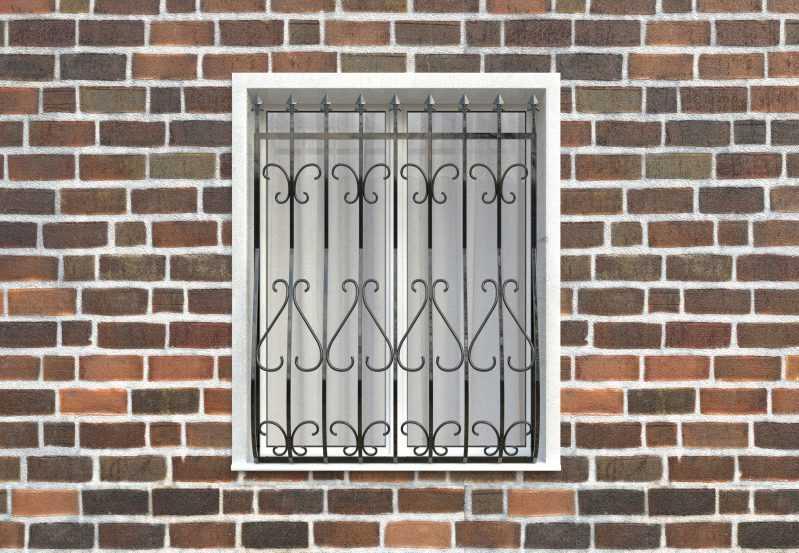 Фото 1 - Дутая решетка на окна ДТ0014.