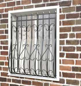 Фото 22 - Дутая решетка на окна ДТ0014.