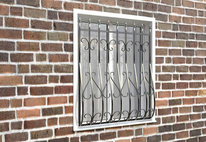 Фото 3 - Дутая решетка на окна ДТ0014.