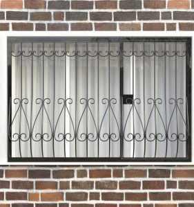 Фото 11 - Дутая решетка на окна ДТ0018.