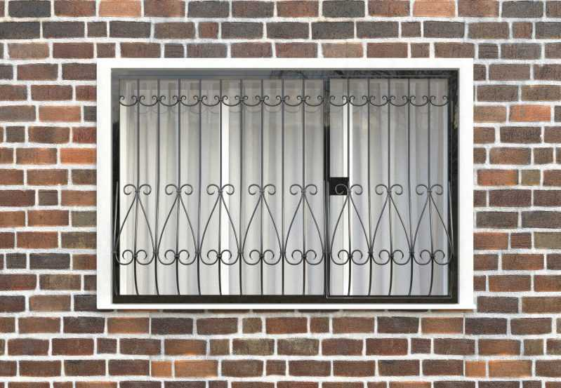 Фото 1 - Дутая решетка на окна ДТ0018.