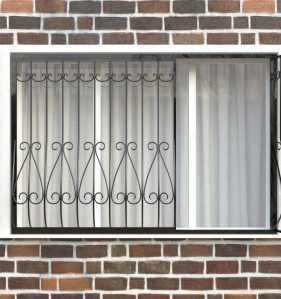 Фото 12 - Дутая решетка на окна ДТ0018.