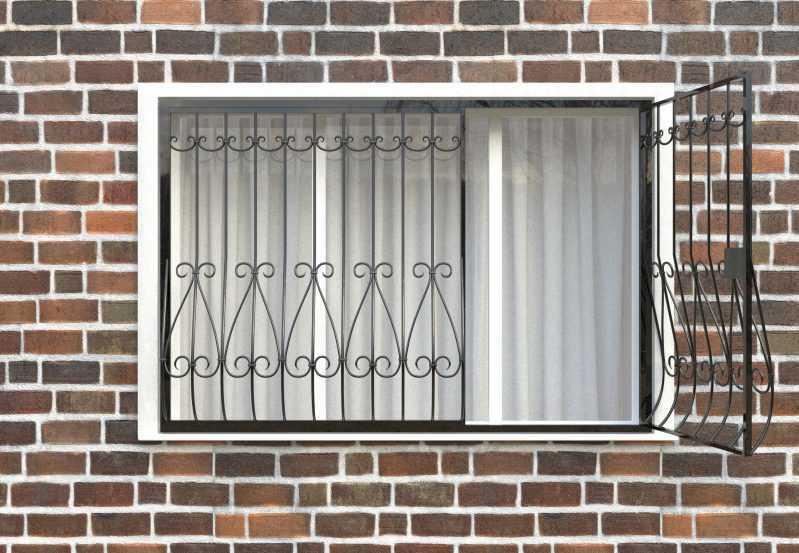 Фото 2 - Дутая решетка на окна ДТ0018.