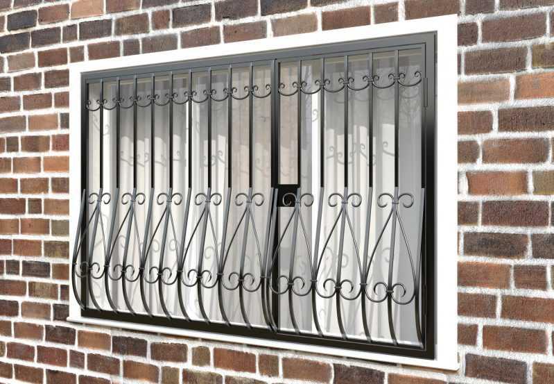 Фото 3 - Дутая решетка на окна ДТ0018.