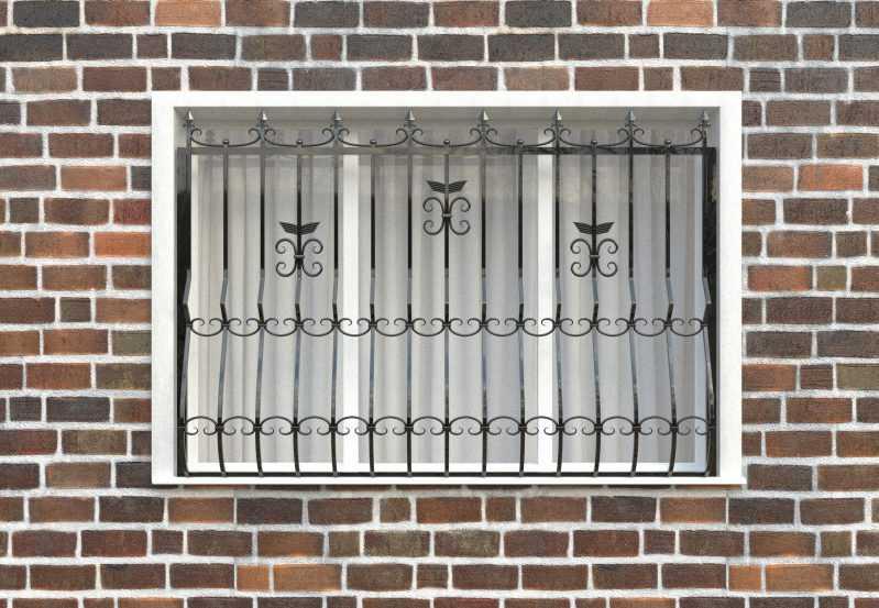 Фото 1 - Дутая решетка на окна ДТ0020.