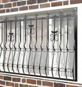 Фото 6 - Дутая решетка на окна ДТ0020.