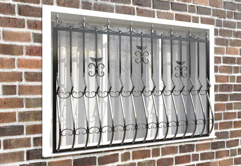 Фото 3 - Дутая решетка на окна ДТ0020.