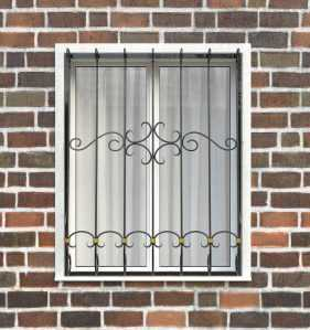 Фото 73 - Дутая решетка на окна ДТ0037.
