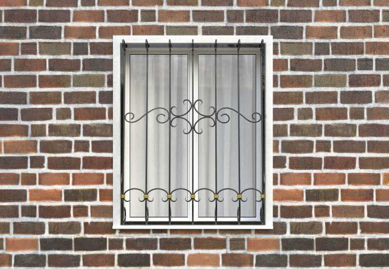 Фото 1 - Дутая решетка на окна ДТ0037.